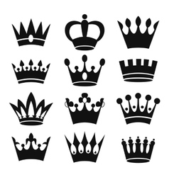 Crown icons isolated on white background vector