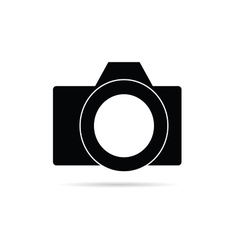 Camera icon in black vector