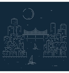 Sketch City vector image