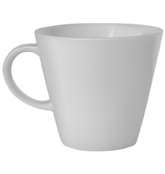 White coffee cup vector