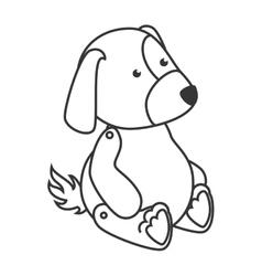 Teddy dog toy icon vector