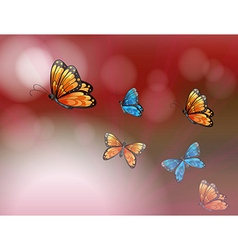 A paper with butterflies vector image