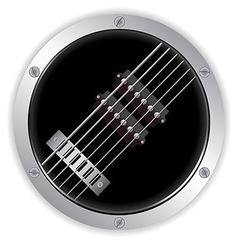 Air guitar metallic border vector