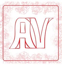 Av monogram vector