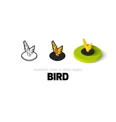 Bird icon in different style vector image