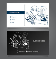 Business card surveyor vector