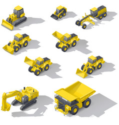 career and construction transport isometric icon vector image