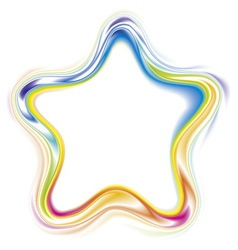 decorative frame of stylized rainbow star vector image