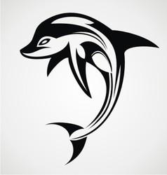 Dolphin tattoo design vector