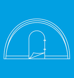 Dome camping tent icon outline style vector