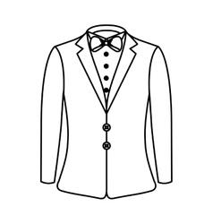elegant gentleman suit icon vector image