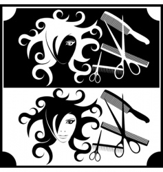 hairdressing vector image