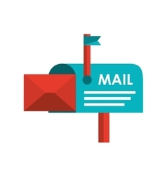 mail box isolated icon design vector image