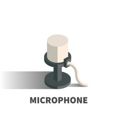 microphone icon symbol vector image