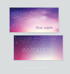 night stars space background vector image vector image