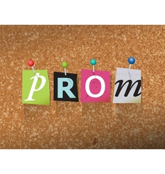 Prom concept vector