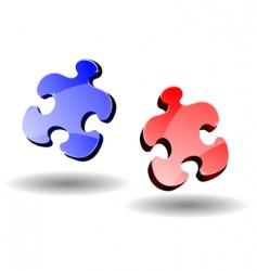 puzzle elements vector image