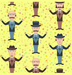 Seamless background with gentleman vector
