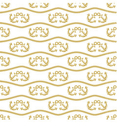 seamless pattern with ropes and anchors ongoing vector image vector image