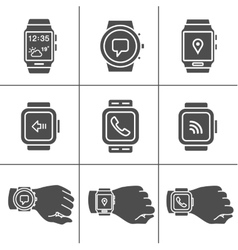 Smartwatch icons vector image vector image