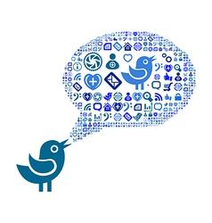 Speech bubble color one vector image vector image