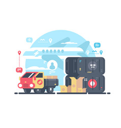 transportation and logistics vector image