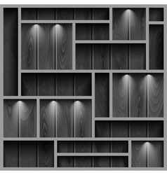 Wooden shelves vector image vector image