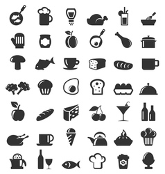 Meal icons6 vector