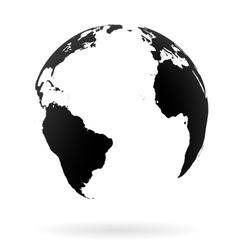 Earth globe symbol vector