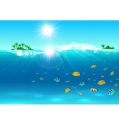 Summer tropical ocean paradise background vector