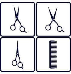 set of hair salon tools vector image