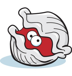 Cartoon grey clam vector