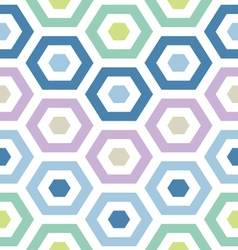Retro modern hexagons vector