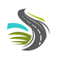 Logotype with traditional road marking elements in vector