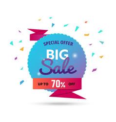 Big sale - modern of discount vector