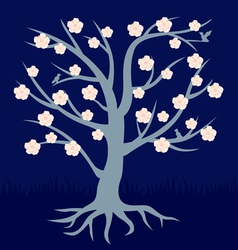 tree flower vector image