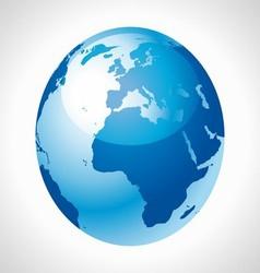 Blue Earth Globe stock free vector image