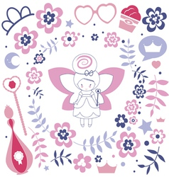 Design with cute fairy vector