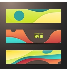 Set of abstract colorful banners three background vector