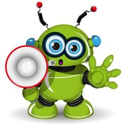 Robot and speaker vector image