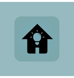 Pale blue house light icon vector