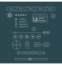 Web UI Elements Design Gray vector image