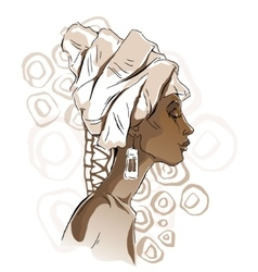 African woman portraits vector