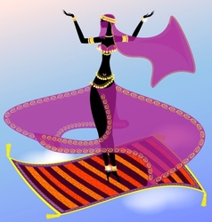 Fairy oriental dancer vector