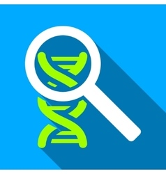 Explore dna flat long shadow square icon vector