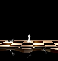 Abstract chessboard and figures vector