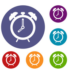 Alarm clock icons set vector