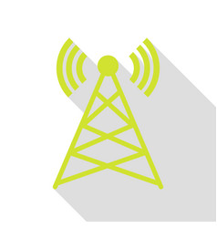 antenna sign pear icon with flat vector image vector image