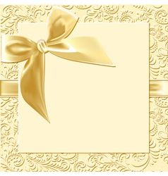 beige background bow vector image vector image