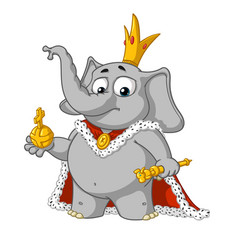 big collection cartoon the proud king vector image vector image